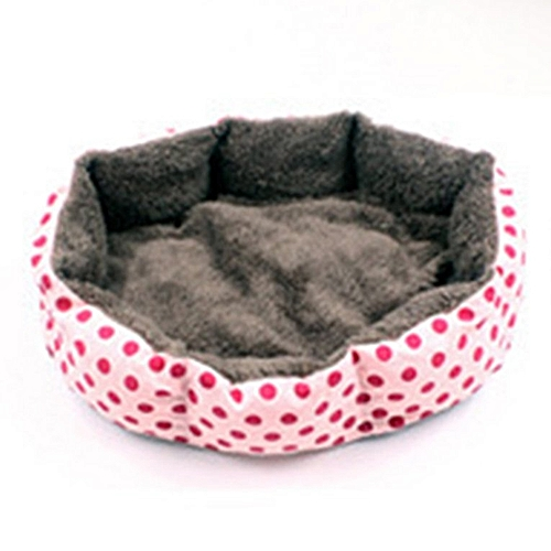 Square Pets Bed Plush Warm Dog House Detachable PP Cotton Cat Sleeping