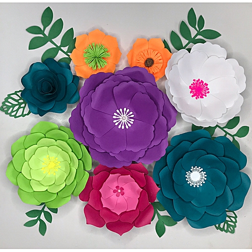 Paper Flowers Wall Decorations