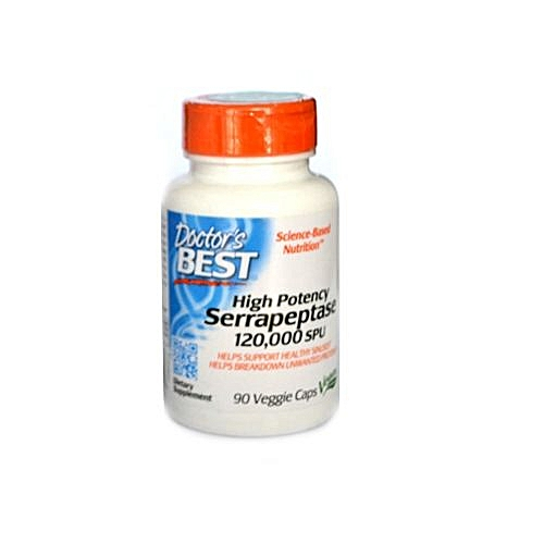 Serrapeptase 120,000 Units 90 Vcaps - High Potency