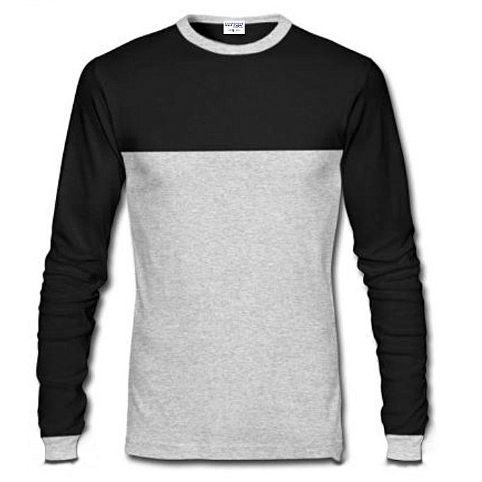 c6a1e44eb Danami Long Sleeve T-Shirt- Black & Grey | Jumia NG