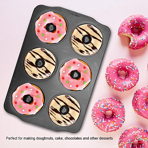 Carbon Steel Doughnut Mold Non-Stick Chocolate Bread Cake Desserts Maker Mould Baking Tool