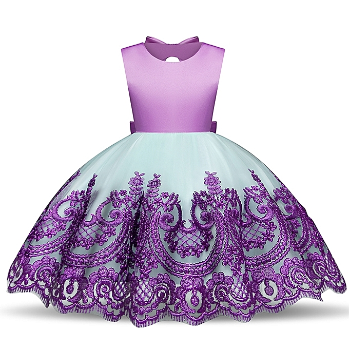 1ec405d407aa Generic Baby Girl Infant Party Dress Little Girl Frock Toddler Girls  Clothes Children's Tutu Bow Decoration Costume For Kids Formal Wear