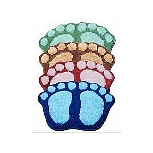 Universal 4 Sets Of Fluffy Bath Foot Mat - Multicolour