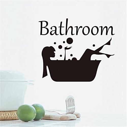 Technologg Shop Bathroom Girl Shower Removable Wall Sticker Bedroom Backdrop Art Decal DIY