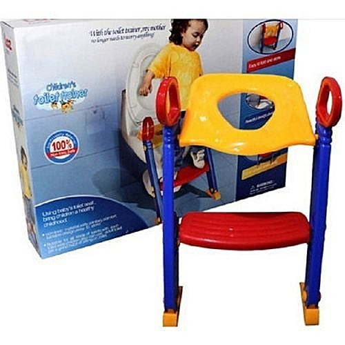 Kid's Toilet Seat With Ladder/step