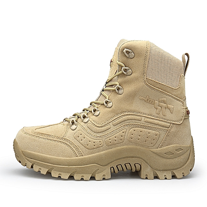 76dd79940 Special Forces Hiking Boots Outdoor Waterproof High-top Desert Boots  Military Boots-Yellow