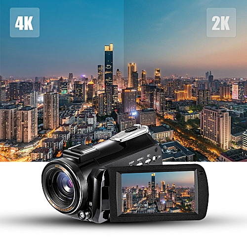 """AC3 4K UHD 24MP Digital Video Camera Camcorder Recorder DV 30X Zoom 3.0"""" Rotation LCD Touchscreen Support WiFi Connection IR Night Vision With Hot Shoe For External Microphone"""