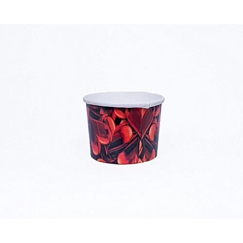 40pcs × Red Petal Baking Cup Cupcake Muffin Ice Cream Papercups
