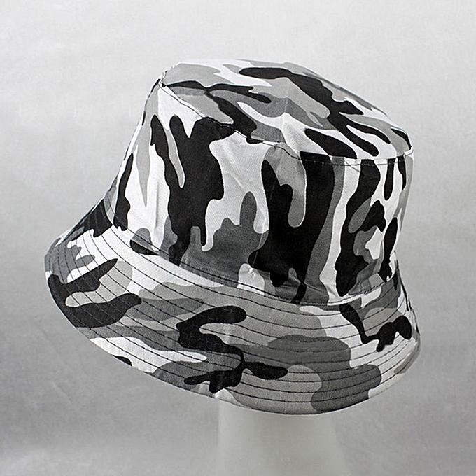 Men s Women s Fashion Bucket Hat Summer Outdoor Cool Visor Sun Hat -Camouflage 5523d99da21