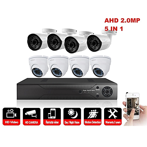 8 Channel Indoor and Outdoor CCTV