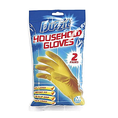 Household Gloves Latex Cleaning Non Slip Gloves 2 Pairs New