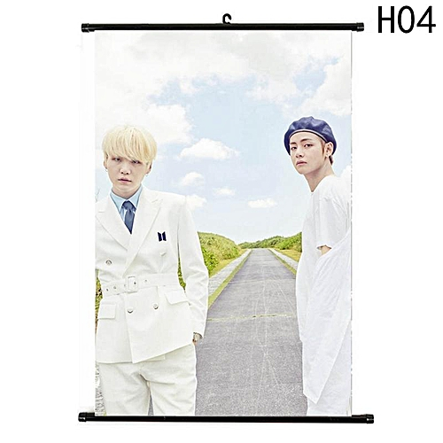 Eleganya New Fine BTS Character Pattern High Quality Exquisite Wall D茅cor Scroll Poster H04
