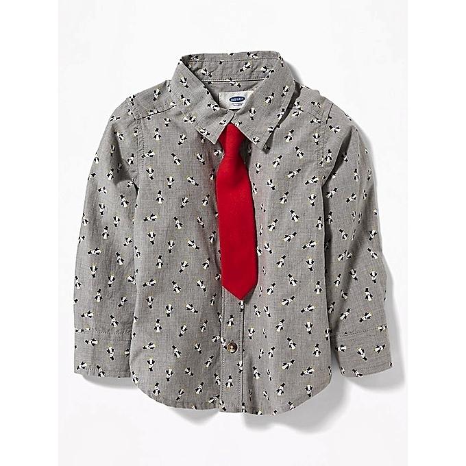 7514726cf57a64 Old Navy Penguin-Print Shirt & Tie Set For Toddler Boys | Jumia NG