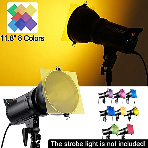 4f3209c34816 Generic 8-Color 12  x 12   Gel Filter For Strobe Light Photography ...