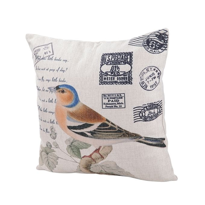 Ovonni Q285 - Oriole Postcard-2 18 Inch Square Linen/Cotton Throw Pillow Buy online Jumia ...