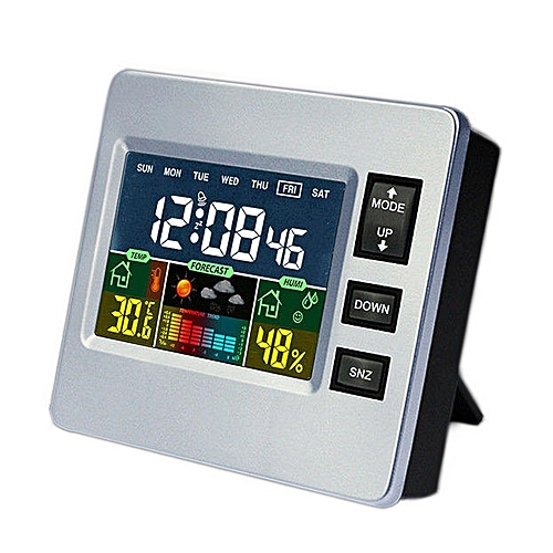 Loskii DC-07 Digital Temperature Hygrometer Alarm Clock Calendar Snooze With Backlit Function
