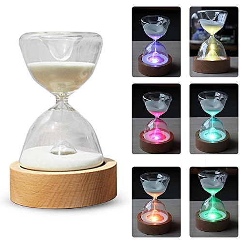 Hourglass Timer LED Night Lights With Remote Control, Colorful Light Sleep Lamp With USB Cable, Bedroom Decorations Wedding Chirstmas Birthday Gift