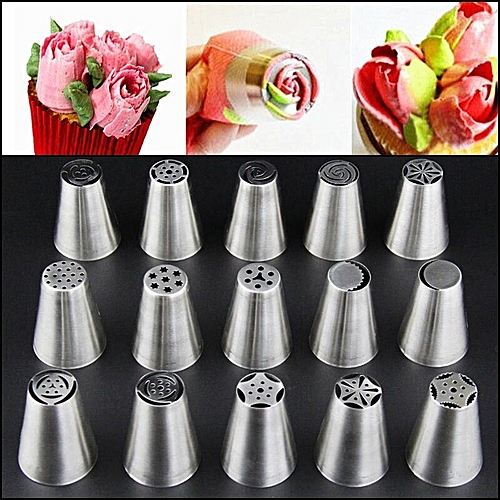 32 Style Russian Tulip Icing Piping Nozzles Stainless Tips Cake Decorating Tool