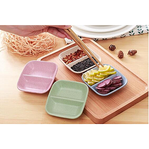 1PC Kitchen Love Pure Color Wheat Straw Bowl Vinegar Seasoning Solid Soybean Dish Sauce Salt Snack Small Plate NX 016 HLS