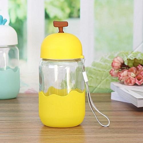 Fruit Glass Water Bottle Children Water Kettle Lemon Juice Drinkware Bottle Vegetable Silicone Drinking Kettle