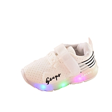 f06f6909b Autumn Toddler Sport Running Baby Shoes Boys Girls LED Luminous Shoes  Sneakers  - White