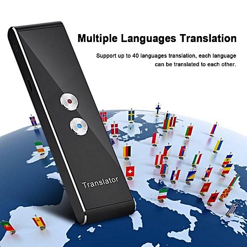 Bluetooth 2.4G Smart Pocket Interpreter Intelligent Real Time Speech Multilingual Translator