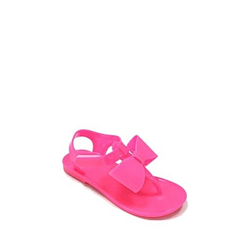f8c4eea4a025 Fashion Wonder Nation Toddler Girls  Jelly Bow Sandal -Pink