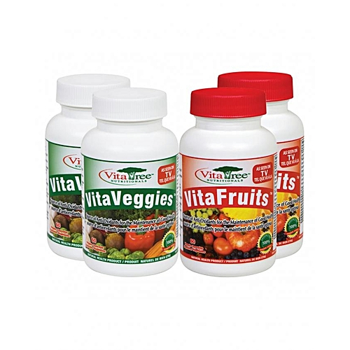 VitaFruits & Veggies Multivitamin 100% Natural Combo Pack - 60 Veggie  Capsules
