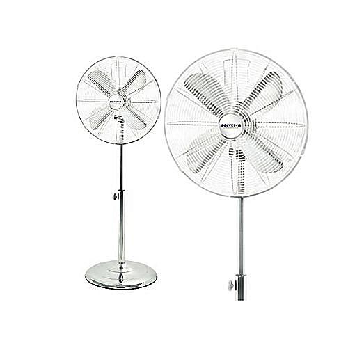 Silver Blades Standing Fan