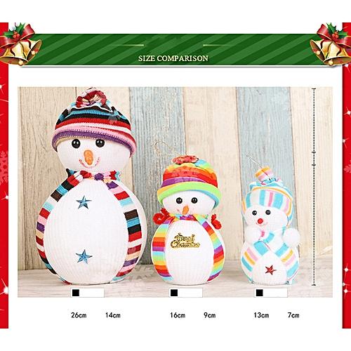 Bioaldla Store Christmas Snowman Doll Decoration Xmas Tree Hanging Ornament Gift Yellow