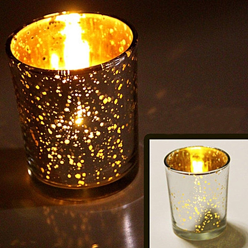 Mercury Glass Tea Light Candle Holders Party Christmas Home Decoration