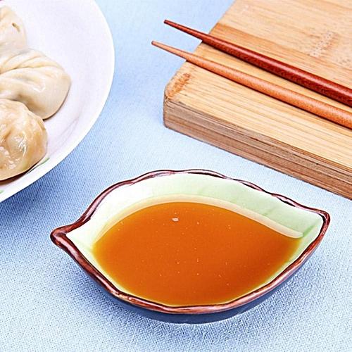 熊1Pc Ceramic Seasoning Sauce Dish Plate Leaf Shape Kitchen Snacks Serving Plates