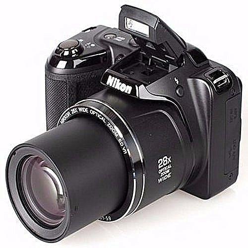Nikon COOLPIX L340 20.2MP Plus 28X Optical Zoom Compact Digital Camera