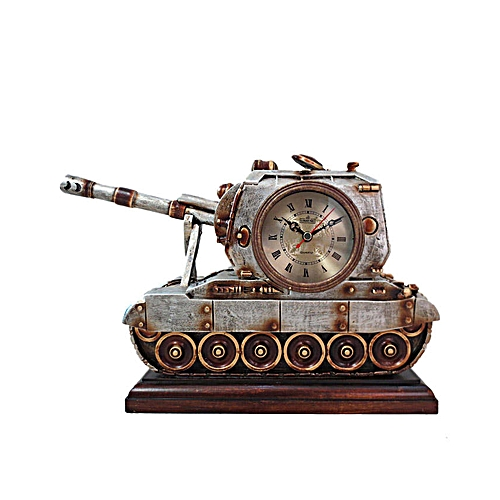 Antique Armoured Tank Clock