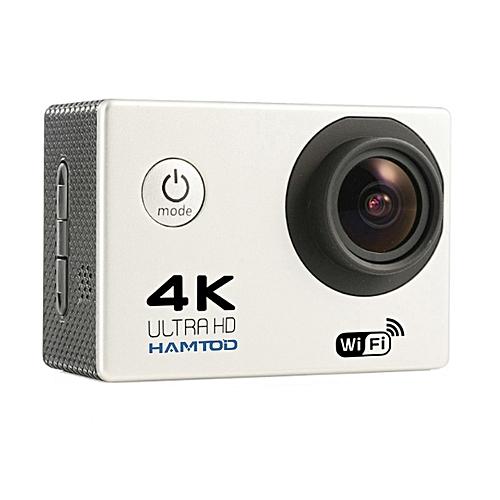 HAMTOD H9A HD 4K WiFi Sport Camera With Waterproof Case, Generalplus 4247, 2.0 Inch LCD Screen, 120 Degree Wide Angle Lens (White)