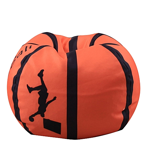Braveayong Kid Stuffed Animal Plush Basketball Style Toy Storage Bean Bag Soft Pouch A -Multicolor