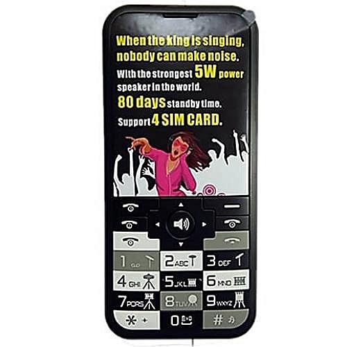 1c31149437c378 Bontel Music King-2.8inch Display Screen,15000mAh Battery,4Sim Card Mobile  Phone-Black