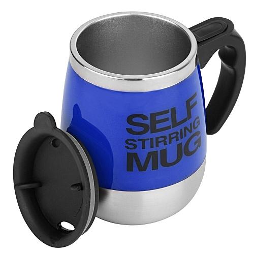 Stainless Lazy Self Stirring Mug Auto Mixing Tea Coffee Cup