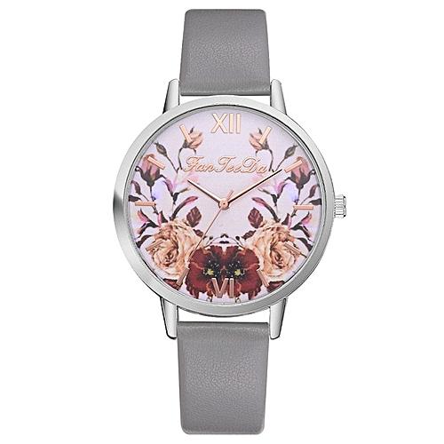 Children Smart Watch Casual Leather Strap Wrist Watches Quartz Wristwatch Gray