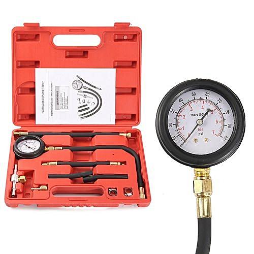 100PSI Fuel Pump Pressure Testers Injection Test System Gauge Car Testing Tool