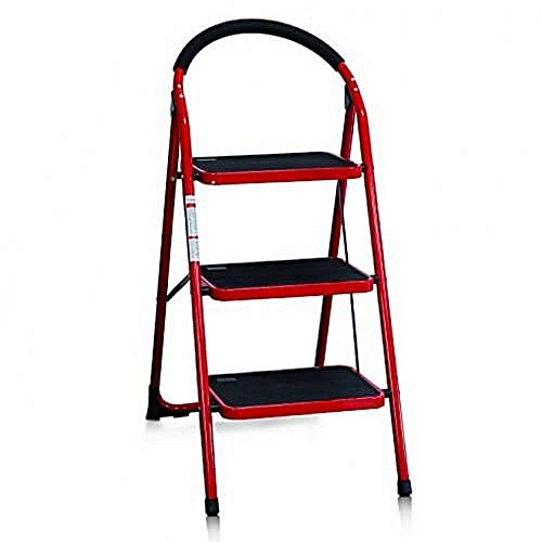 FAMILY PORTABLE HOUSEHOLD 3STEPS LADDER - FOLDING/PLATFORM