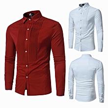 835bdbb43ff Hot Men Shirts Slim Fit Male Dress Shirts - Red
