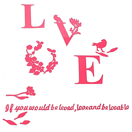 Beautiful 3D LOVE DIY Mirror Wall Decals Stickers Art Home Room Vinyl Decor AY XS Pink