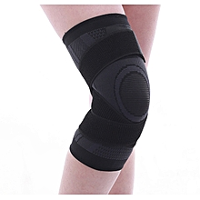 89f7268a4f Knitting Sports Knee Pads Pressure Running Basketball Riding Fitness  Breathable Winding Protective Gear-balck