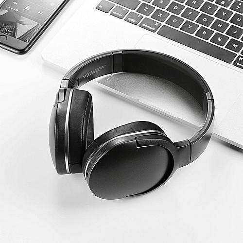 fce643bb5c4 Baseus Baseus D02 Bluetooth Headphone Portable Wireless Headset Adjustable  Earphones With Microphone For PC Phone Stereo Earphone(#Black)