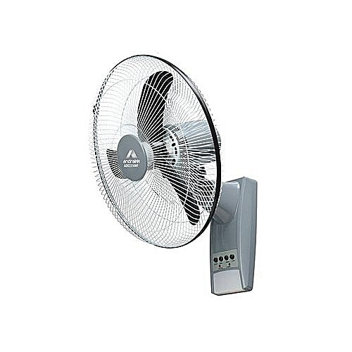 Rechargeable 16'' Wall Fan With Remote With Solar Panel