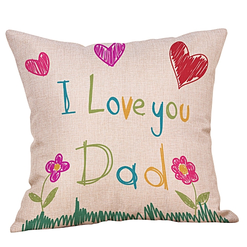 Happy Fathers' Day Pillow Cases Sofa Cushion Cover Home Decor Pillow Case