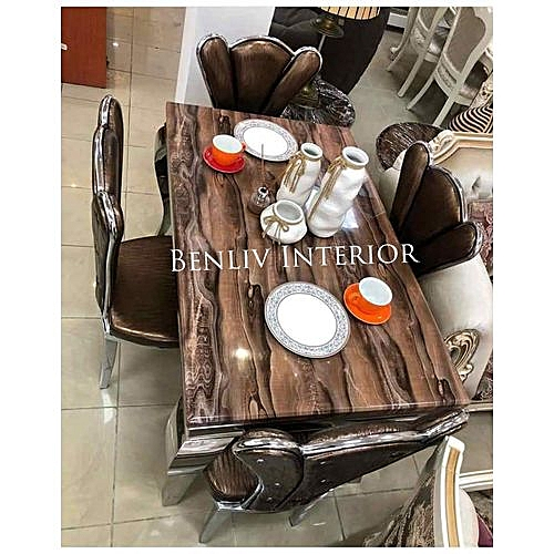 Marble Dining Table + 6 Sitting Chairs (Delivery Within Lagos Only)