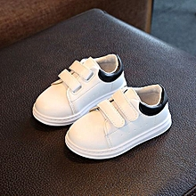 Baby Solid Sneaker Child Girls Boys Toddler Casual Sport White Shoes- Black 4c90e6c791f4