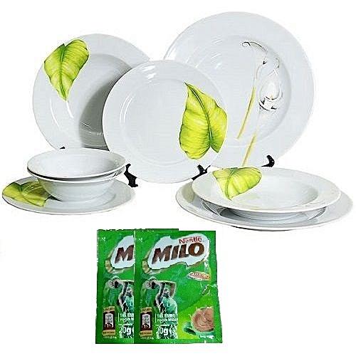 Premium 8 Piece Dinner Plate Set - Bridal